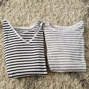 2 Long Sleeve Shirts Women's Sz Large